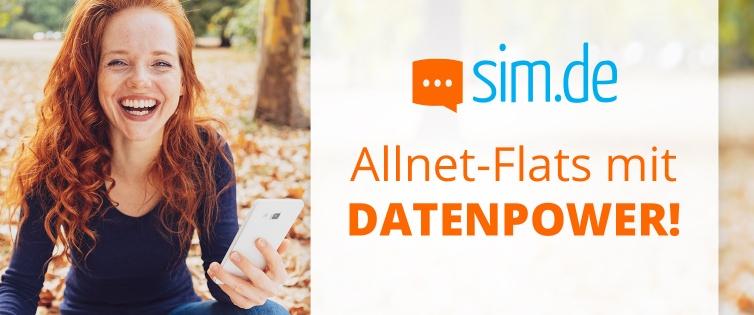 Sim.de+Shoop LTE All 8GB für nur 8,99€ mtl.+ 10€ Cashback (3 Monate / 24 Monate, Telefonica-Netz)