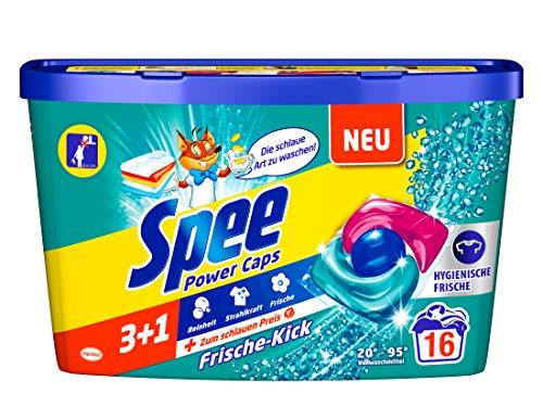 Amazon Sparabo - Spee Power Caps Frische-Kick 3+1, Vollwaschmittel, 16 Waschladungen für 2,18 Euro