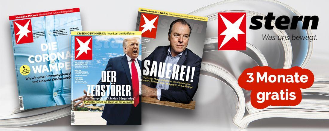 Gratis Stern-Schnupperabo: 3 Monate kostenlos lesen
