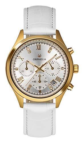 Orphelia Damen Chronograph Quarz Uhr mit Leder Armband OR31803