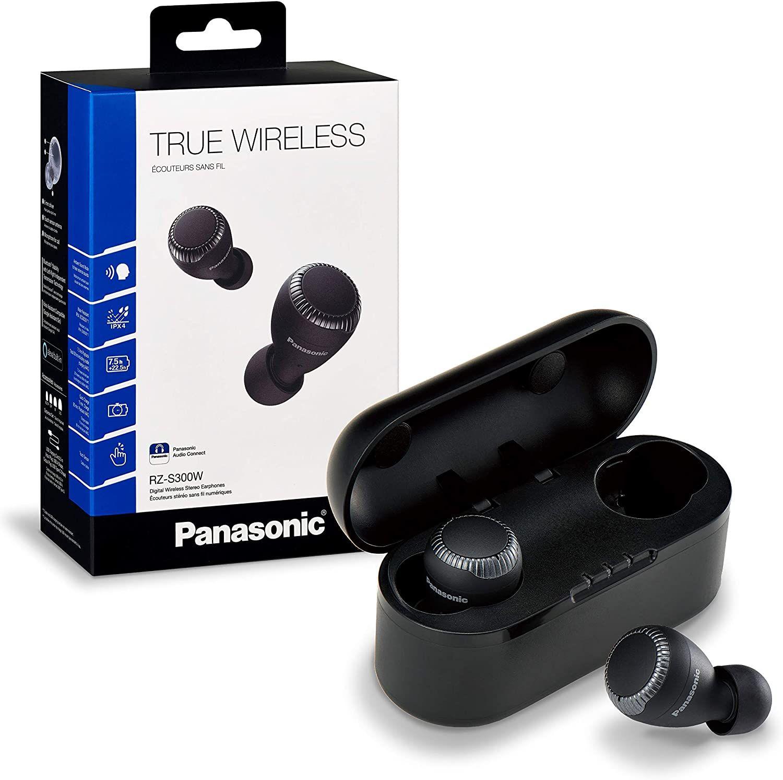 Panasonic RZ-S300WE-K True Wireless In-Ear Bluetooth Kopfhörer (Ultra Kompakt, Sprachsteuerung, kabellos, bis 30 h Akkulaufzeit) schwarz