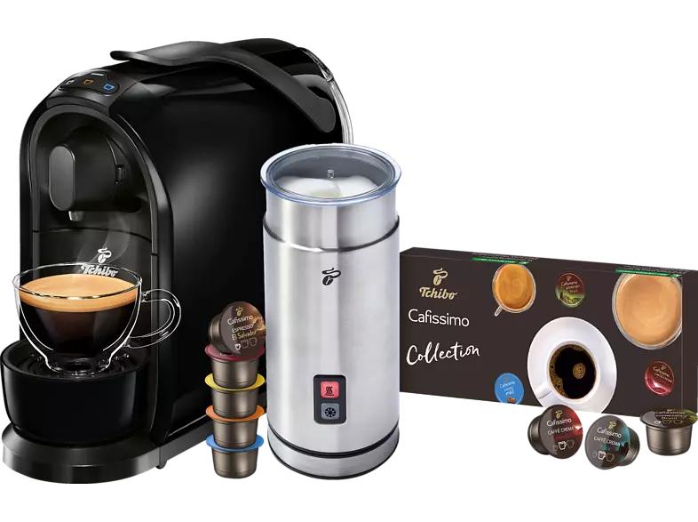 TCHIBO CAFISSIMO Pure + Milchaufschäumer + 8 Kapseln Kapselmaschine Schwarz- bei Abholung 49€