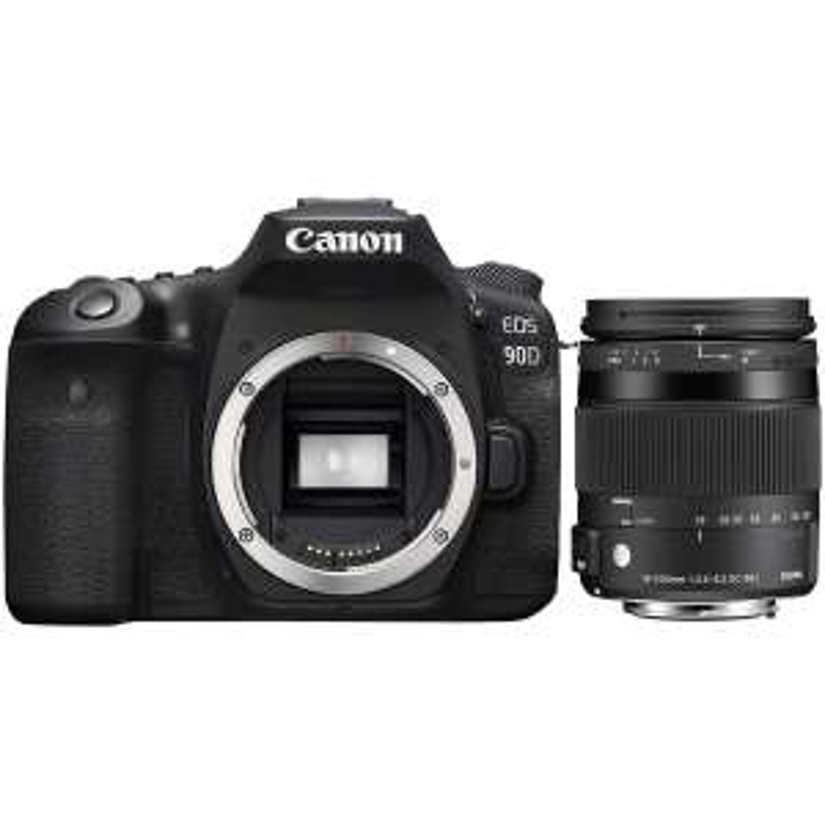 Canon 90D Spiegelreflexkamera + Sigma 18-200mm F3,5-6,3 DC Makro OS HSM Objektiv