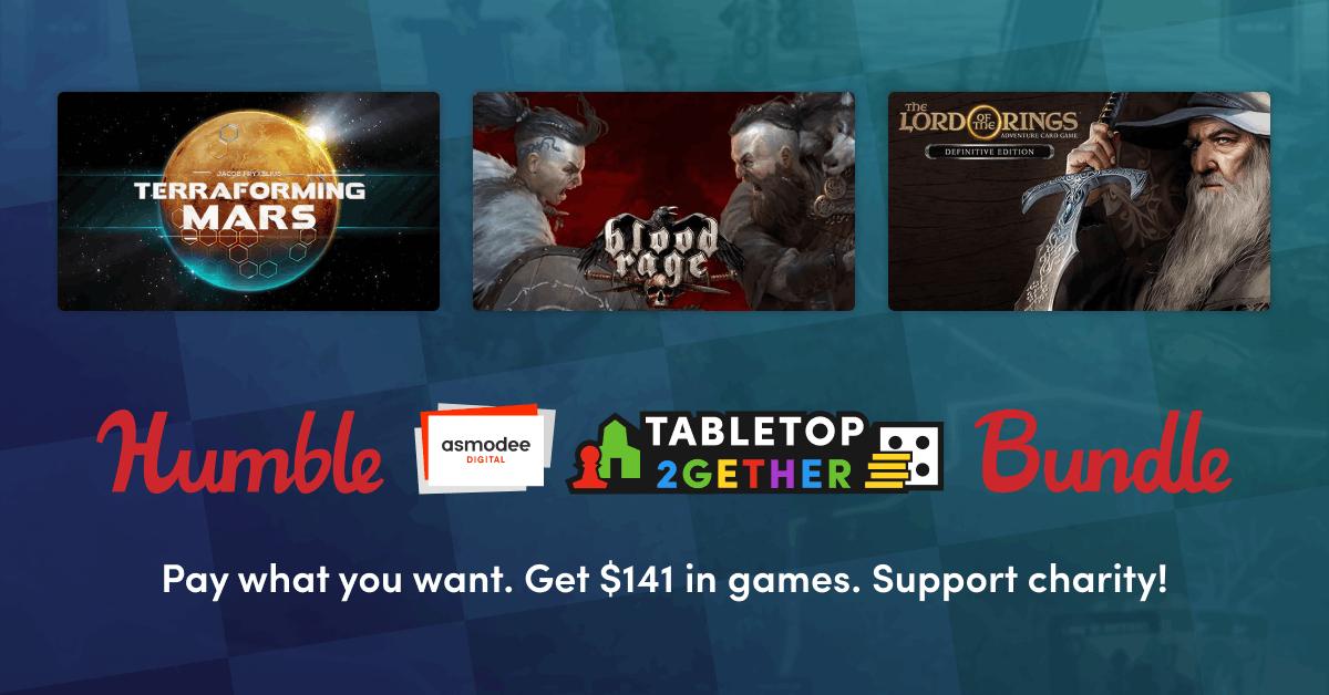Humble Asmodee Digital Tabletop 2gether Bundle: 3 Spiele für 1€ (PC - Steam)