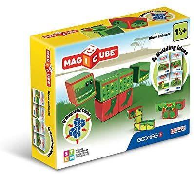 [Amazon Prime] Geomag 133 Magicube River Animals, Magnetwürfel für Konstruktionen, 6 Teile