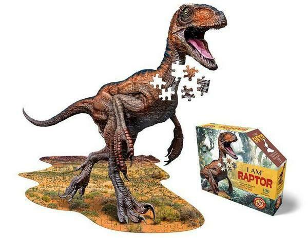 [thalia.de] Madd Capp Shape Puzzle Junior Velociraptor 100 Teile, gelegte Größe 78,7x83,8 cm, T-Rex vorbestellbar 17,09€