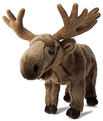 [Amazon Prime] WWF Plüsch Elchkalb, realistisch gestaltetes Plüschtier, ca. 20 cm groß und wunderbar weich