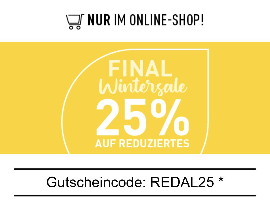 (Modepark Röther) zusätzlich 25% Rabatt auf Sale Artikel oder auch 10€ Gutschein, beim Kauf eines 50€ Gutscheins