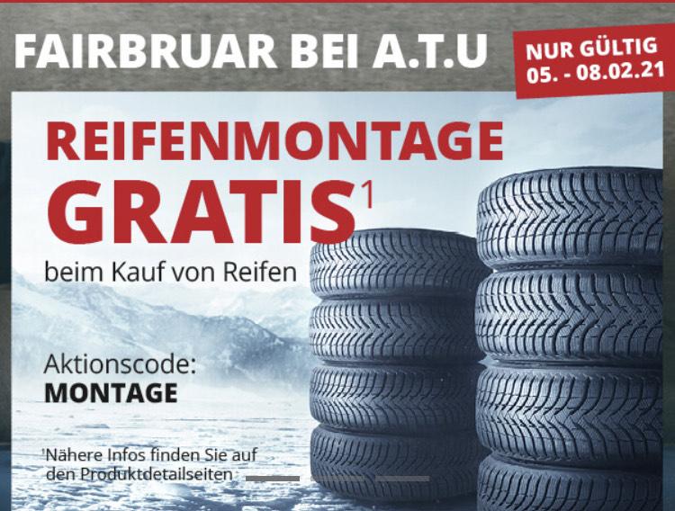 Reifenmontage geschenkt bei A.T.U