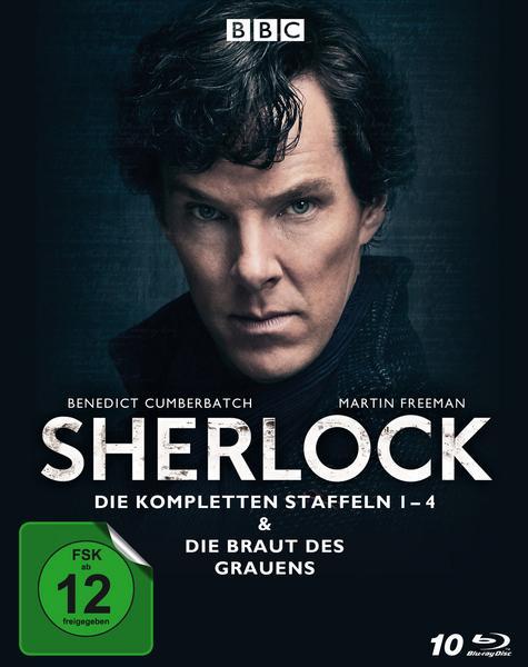 Sherlock - Staffel 1-4 & Die Braut des Grauens [Blu-ray] für 30,59€ bei bol