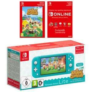 NINTENDO Switch Lite inkl. Animal Crossing und 3 Monate Switch Online Mitgliedschaft Türkis o. Koralle für 204,99€ inkl. Versandkosten
