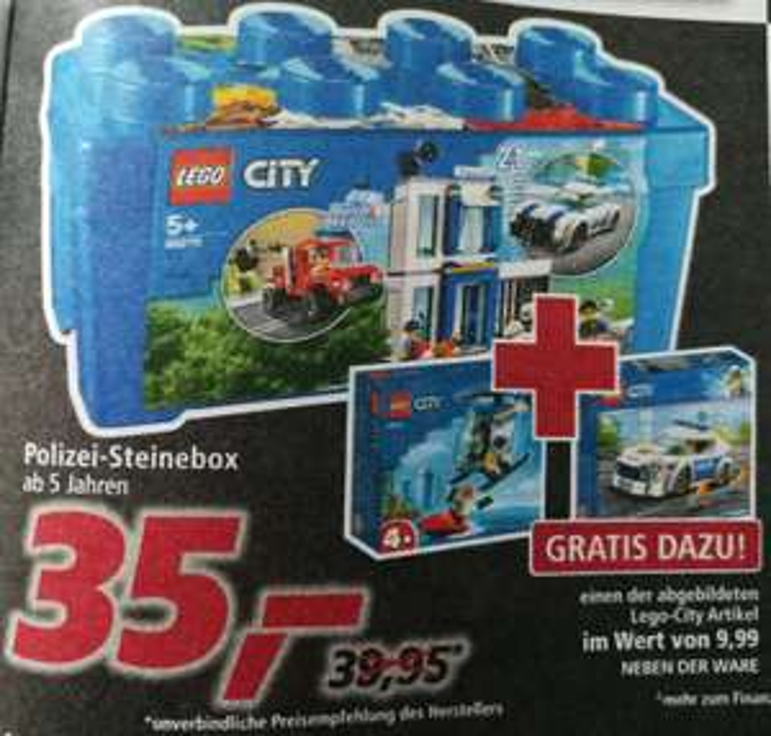 [real-Markt] LEGO Polizei Steinebox 60270 + Zugaben