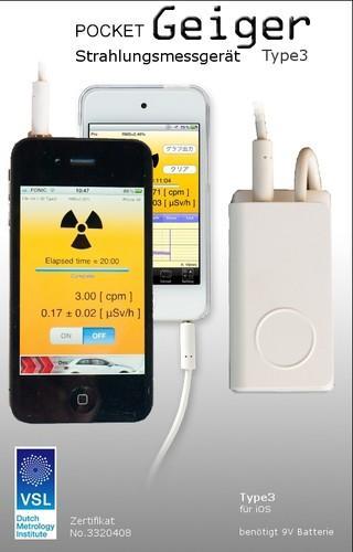 Geigerzähler Pocket Geiger Type 3 für iPhone, iPad, iPod touch und Android