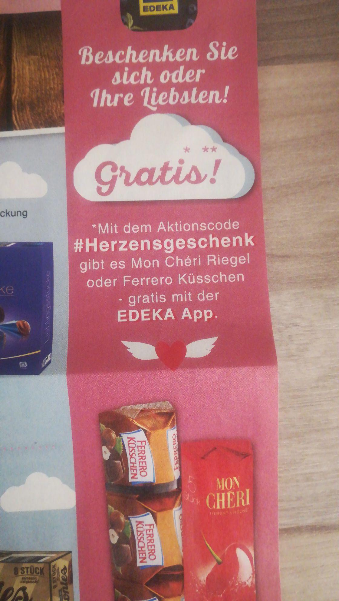Ferro Küsschen oder Moncherie - Edeka Genuss+ App MBW 5€