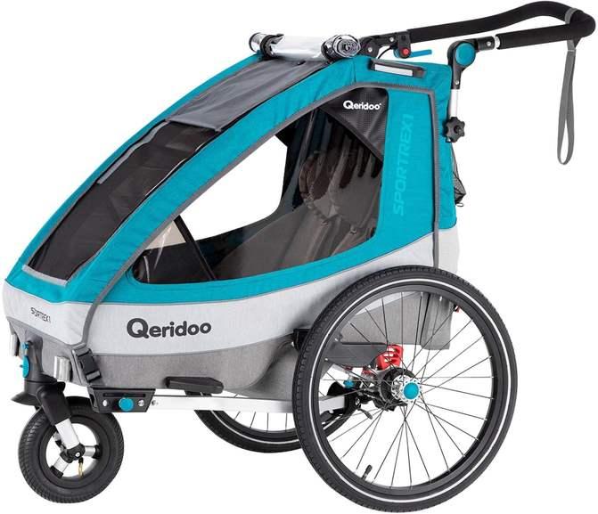 Qeridoo Sportrex1 für 309,99€, Speedkid 2 in Petrol für 299,99€ und weitere Kinder-Fahrradanhänger