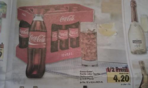 [Lokal Hamburg] Kaufland Coca-Cola, Fanta oder Sprite - Kiste 12 x 0,5 Liter