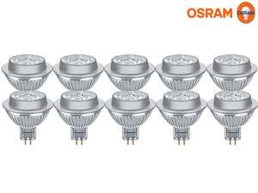 10x Osram dimmbarer LED-Spot | GU5.3 | 2.700 K | 6,3 W oder 7,8 W