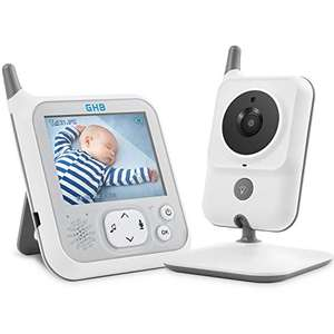 GHB Babyphone 3,2 Zoll Smart Baby Monitor mit Video Talk Back
