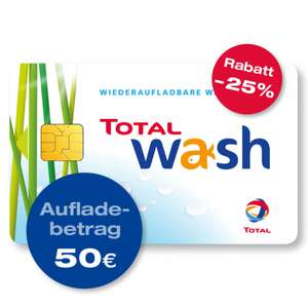 Total Wash Waschkarte: bis 35 % Rabatt Autowäsche
