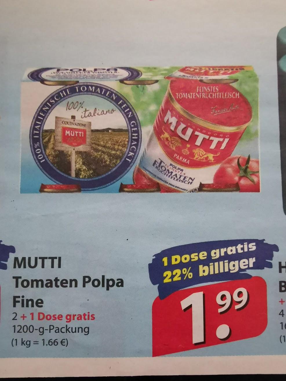 [Famila Nordost] Mutti Polpa Tomatenfruchtfleisch 3X400g Dose für 1,99€