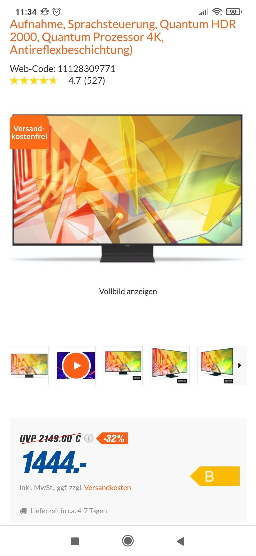 Samsung GQ65Q90TGTXZG QLED TV (65 Zoll (163 cm),