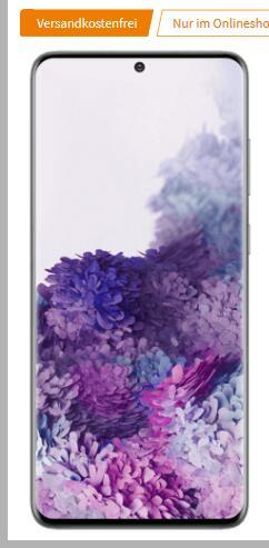 Samsung Galaxy S20 Plus 128GB Schwarz/Grau im MD Telekom green LTE 10GB für 26,99€ monatlich und 79€ einmalig