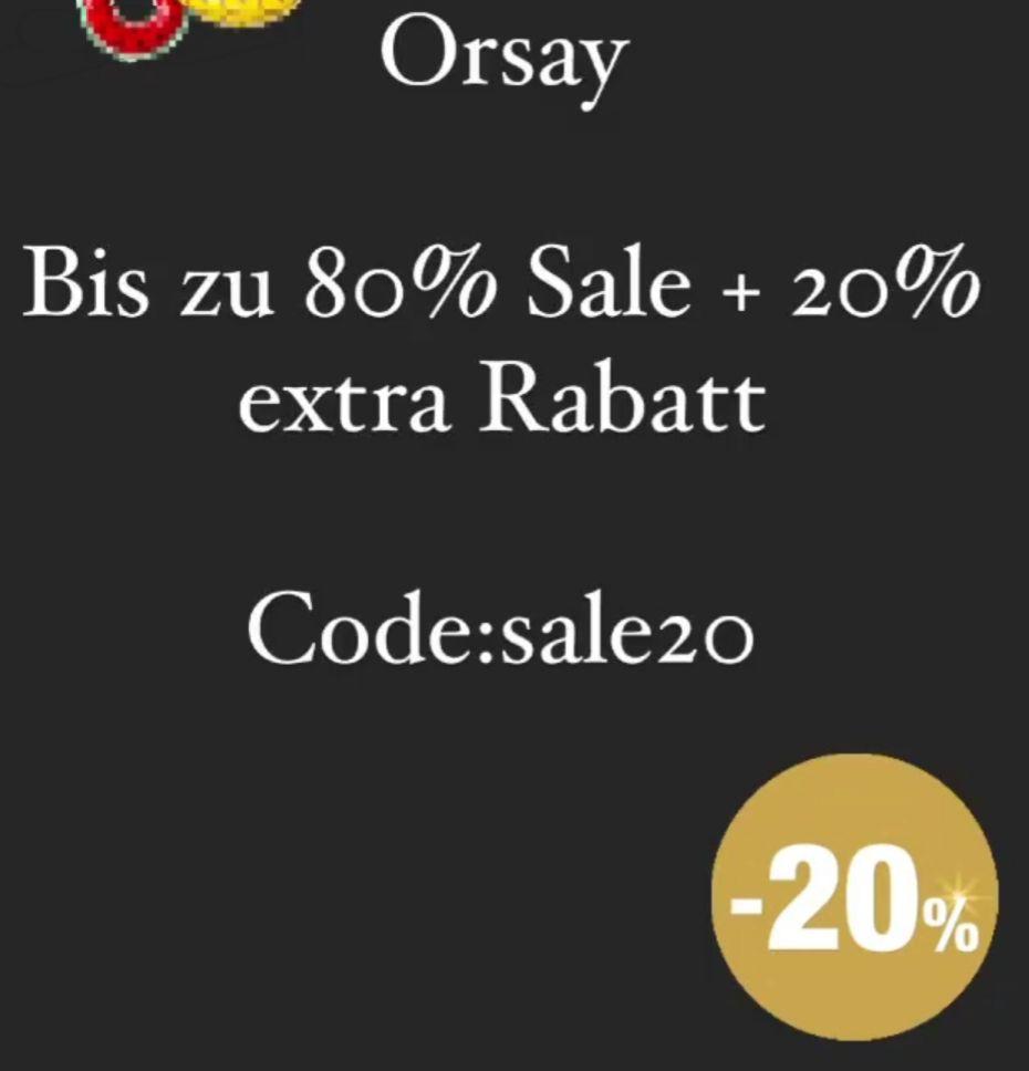 Orsay bis zu 80% Sale + extra 20% Extra Rabatt