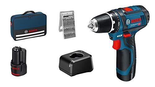 Bosch Professional 12V System Akkuschrauber GSR 12V-15 (inkl. 2x 2.0Ah Akku, Ladegerät, 25-tlg.-Bit-Set, in Tasche) [Amazon & ManoMano]