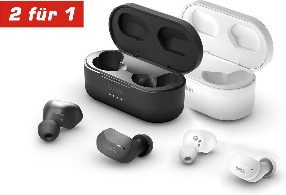 [OTTO] 2 für 1 Aktion für den Belkin SoundForm BT Kopfhörer in schwarz oder weiss ( Touch-Bedienung, IPX5, Ladecase )