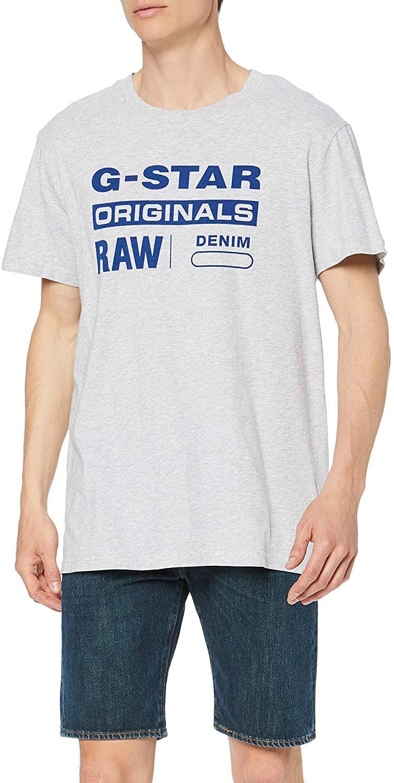 [AMAZON PRIME] G Star Herren T-Shirt Graphic 8 Round Neck In grau XXS