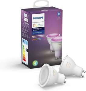 [Saturn] PHILIPS Hue White & Color Ambiance GU10 LED Doppelpack