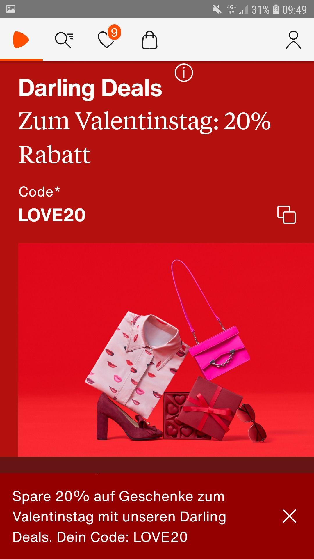 Darling deals Zalando zum Valentinstag