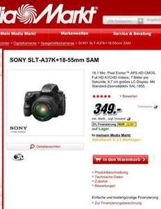 Sony Alpha 37 SLT-A37K+18-55mm SAM @Media Markt Online