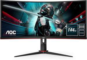 AOC CU34G2X/BK Curved Gaming-Monitor 86 cm (34 Zoll) WQHD,VA-Panel, HDMI, DisplayPort, USB, 1ms, 144Hz, AMD FreeSync