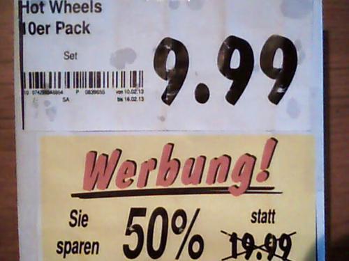 Mattel Hot Wheels  10er Geschenk-Set   Kaufland  Berlin für 9,99€