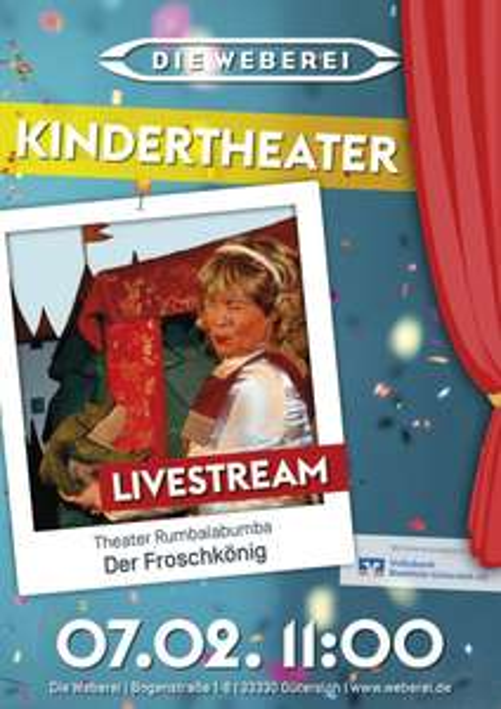 Kostenloses Kinder Theater jeden ersten Sonntag gratis - Weberei Gütersloh