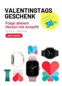 Amazfit Valentins Aktion, u.a. Band 5