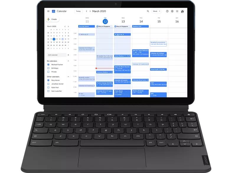 "LENOVO IdeaPad Duet Chromebook (2-in1), 10,1"" Zoll Touchscreen, 4 GB RAM, 64 GB, Stylus im Lieferumfang, 3 Monate Youtube Premium gratis!!!"