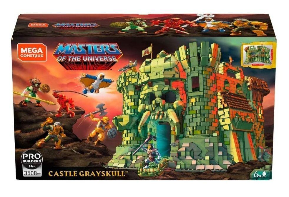 Mega Construx GGJ67 - MASTERS OF THE UNIVERSE Castle Grayskull Bauset mit 3508 Bausteinen, He-Man, Motu