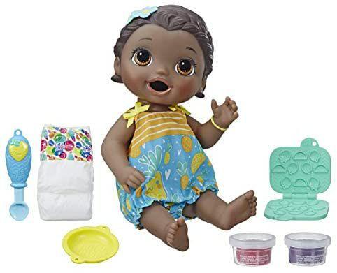 [Amazon Prime] Hasbro Baby Alive Fütterspaß Lily Puppe, wiederverwendbarer Puppennahrung und Zubehör, ca. 30 cm
