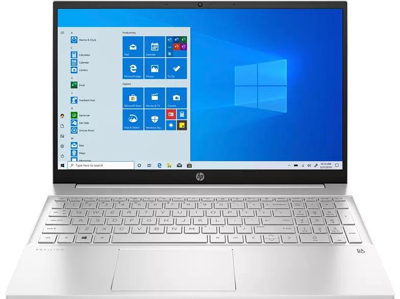 HP Pavilion 15-eh0300ng - Laptop mit 15,6 Zoll IPS, Ryzen 5 4500, 8GB Ram, 515GB SSD, beleuchtete Tastatur, inkl. Win10,