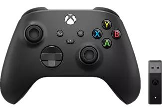 MICROSOFT Xbox Wireless Controller + Wireless Adapter für Windows 10 Controller Schwarz