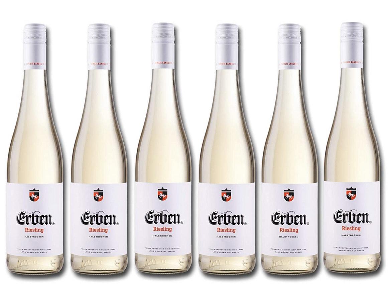 [Amazon] Erben Riesling Halbtrocken Weißwein 6 x 0,75 Liter