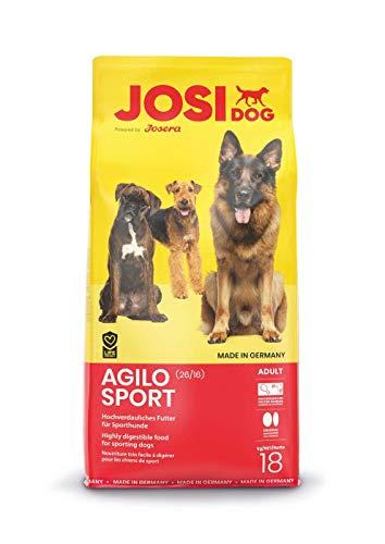 (Prime) Josera / JosiDog Agilo Sport (18kg)   hochverdauliches Futter für aktive Hunde   Premium Trockenfutter für ausgewachsene Hunde
