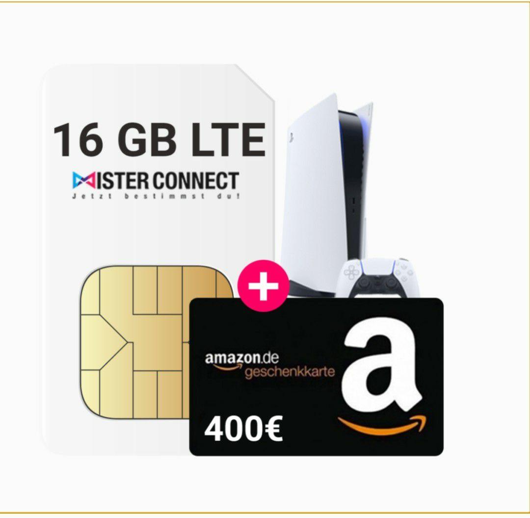 O2 Telefonica 16gb LTE 4g + 400€ Amazon Gutschein