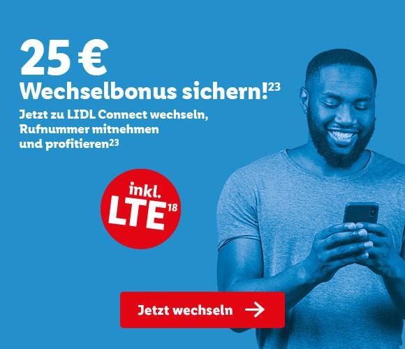 Lidl Connect s mit 25€ Wechselbonus bei Rufnummernmitnahme