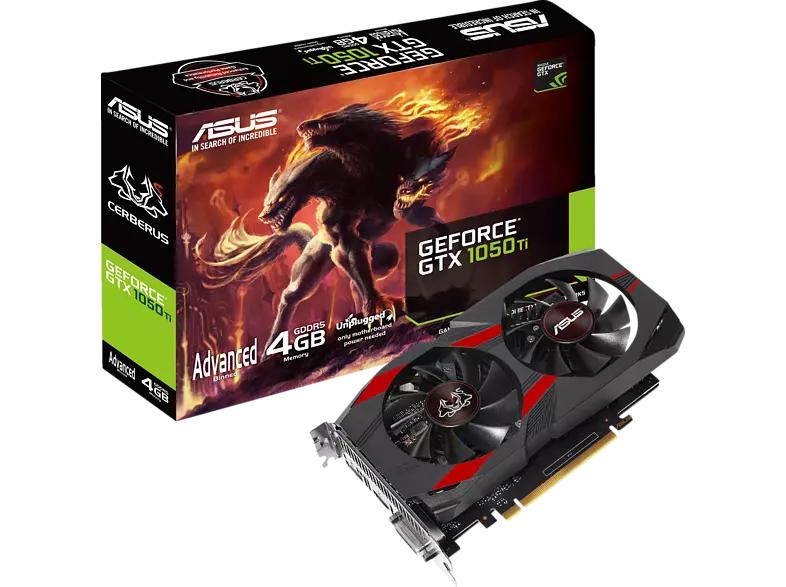ASUS Cerberus GeForce GTX 1050 Ti Advanced (4GB GDDR5, DVI, HDMI, DP)