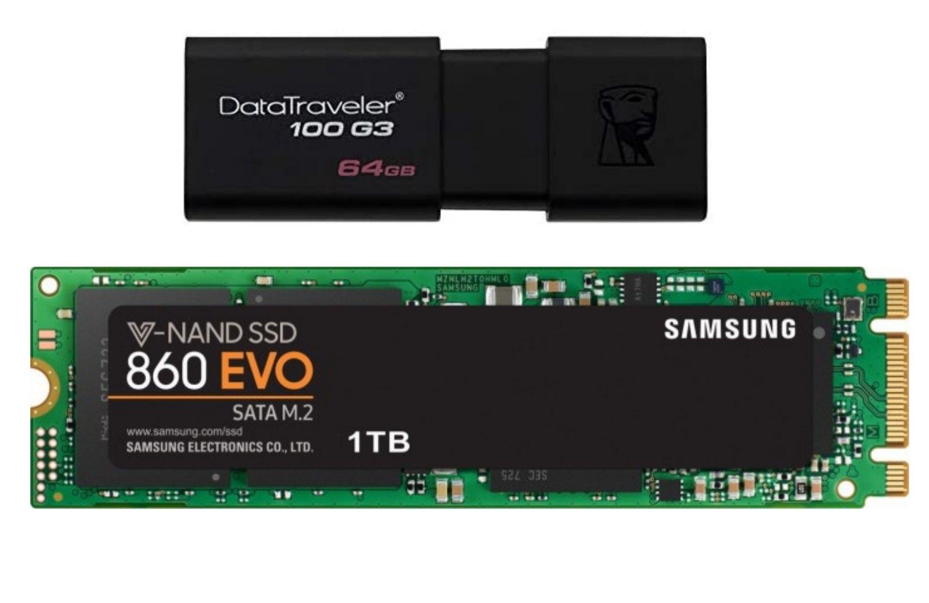 [Saturn] Samsung 860 EVO 1TB M.2 SATA SSD (3D TLC, 1GB DRAM, AES, 5 Jahre Garantie)
