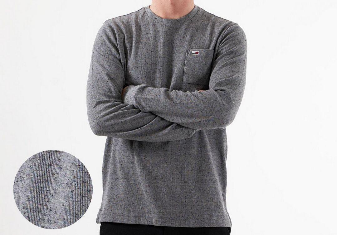 [Gr.S] Tommy Jeans [ Hilfiger] Langarmshirt mit Bio-Baumwolle