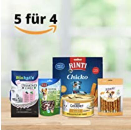 Amazon Haustierprodukte: Nimm 5, zahl 4 z.B. 5x Vitakraft Hundesnack Fleisch-Stick Beef für 1,56€